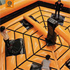 Orange black trampoline park last one standing kids