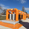 Gray Orange inflatable popup park