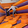 Orange Purple Gray inflatable Park stepping stone kid