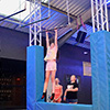 interactive climbing wall with timer