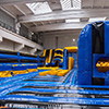 yellow blue obstacle course