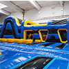yellow blue obstacle course inflatable theme park