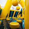 Yellow Blue Dark Blue inflatable theme park