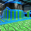 Green Blue Inflatable theme park