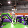 gren orange inflatable theme park kids jumping
