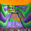 gren orange inflatable theme park slide ballpond