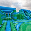 Inflatable Green blue park obstacles