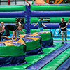 kids obstacle course green orange