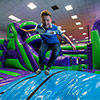 inflatable theme park children jumping